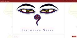 Page d'accueil de Stichting Nepal